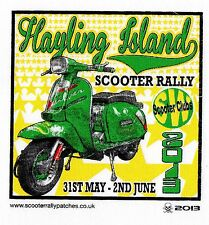 OFFICIAL 2013 HAYLING ISLAND SCOOTER RALLY RUN PATCH not PADDY SMITH