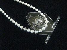 20 trasparenti tendina CORDA Guide due pezzi a prova di bambino clip per perline