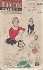 "1950s Vintage Sewing Pattern BLOUSE B38"" (R265)"