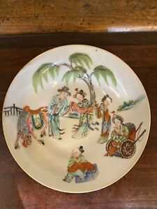 Antique Chinese Porcelain exports families rose plate