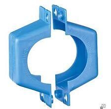 """Plombierschelle 1/2"""" DN15 Kunststoff-blau Zweiteilig (Set aus 2 Halbschalen)"""