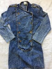 VINTAGE 80s DENIM DRESS Stonewashed  Pencil Porto Modes Inc