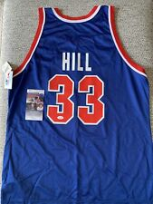 Vintage Champion Detroit Pistons Grant Hill Signed JSA Authenticated Jersey 48