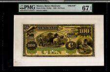MEXICO 1888 100 PESOS PROOF BANKNOT MA-BN-60-61