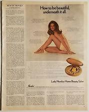 Vintage LADY NORELCO Home Beauty Salon Sexy 1971 Magazine Ad w/Good Seasons Dip