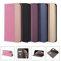 Magnetic Flip Stand Card Wallet Leather Case Cover for iPhone 11 Pro Max XR 7 8+