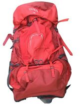 Osprey Atmos 65 Internal Frame Men's Backpack SZ M, Rigby Red, Excellent Used!