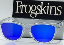 NEW* Oakley Frogskins Clear Crystal w POLARIZED Blue Violet Sunglass oo9245