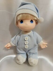 """PRECIOUS MOMENTS MY FIRST BABY BOY DOLL ROSE ART 1992 6 """" VINYL Removable Clothe"""