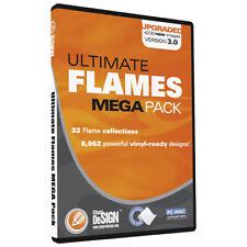 Flames Clipart Vinyl Cutter Plotter Images Eps Vector Clip Art Sign Graphics Cd