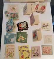 "28 Vintage 1960s Gift Tags 2"" x 2"""