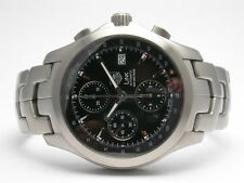 TAG HEUER LINK CHRONOGRAPH STAINLESS STEEL MENS WATCH BLACK DIAL CJF2110.BA0594