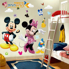 Cartoon Mickey Mouse Minnie Mural Wall Sticker Decals for Kid Child Room Vinyl