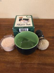 Van Der Hagen Premium Shave Set-Shave Soap-Ceramic Bowl-Boar Bristle Shave Brush