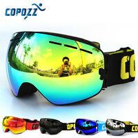 COPOZZ Skiing Snowboard Adult Goggles Anti-fog UV Snow Ski Mirror Dual Lenses