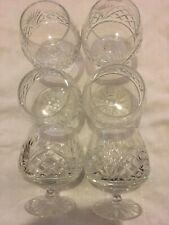More details for 6 vintage old hall bridge lead crystal brandy glasses