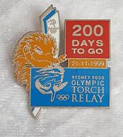 SYDNEY 2000 200 DAYS TO GO PIN - SYDNEY OLYMPIC TORCH RELAY PIN