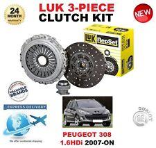 FOR PEUGEOT 308 1.6 HDi 90BHP 109BHP 2007-ON CLUTCH KIT ORIGINAL LUK 3 PIECE