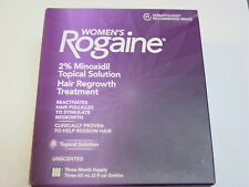 Women's Rogaine 3 Month Supply Hair Regrowth Treatment For Woman NEW Exp 2020