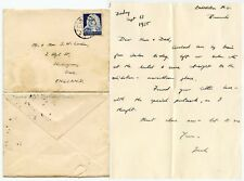 GERMANY 3rd REICH 1935 LETTER CORDEN re FOOTBALL MATCHES COLOGNE CATHEDRAL + YHA