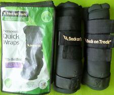 """BACK on TRACK 14"""" Pair of (2) Therapeutic QUICK WRAPS With WELLTEX~LGHTLY Used"""