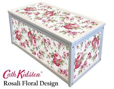 WHITE WOODEN STORAGE CHEST BOX / TOY BOX WITH CATH KIDSTON IKEA ROSALI STICKERS