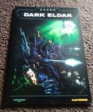 Dark Eldar Codex Warhammer 40,000  (1998) RPG Games Workshop Freeshipping