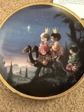 Hamilton Collection - precious Moments - Plate - They Followed The Star - 3509A