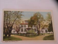POSTCARD HAYES near Edenton, NC linen white border Mitchener's pharmacy Curteich