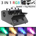 Rgb 18 Leds 3in1 Fog Machine Bubble Smoke Dmx Stage Light Dj Concert Show Fogger