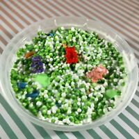 "Floam Slime ""GUMMY BEAR GARDEN"" Green Crunchy Foam Beads 3 Charms Scented 6 8 oz"