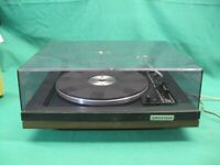 Vintage BSR Quanta 450SX Record Turntable Serviced Lubricated Needs Stylus