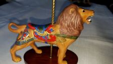 "1988 Franklin Mint ""Treasury of Carousel Art"" Porcelain Lion Figurine"