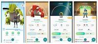 Pokemon Account Go Level 33-34 - 48x Legendary - 12x Shiny - 269x Hatched