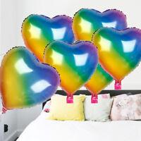 5pcs Rainbow Foil Balloons Birthday Wedding Party Balloons DIY Photo Prop ^P