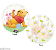 Winnie the Pooh & Piglet See Thru Clear Birthday Party Balloon Decorations