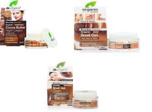 DR. Organic Bioactive Skincare Cream, Night Cream&Snail Gel 50ml Brand New Seal