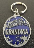 Collectible Solid Pewter Enameled Keychain World Greatest Grandma