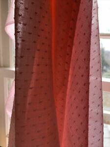 Vintage Pink Dotted Swiss Raised Dot Semi Sheer Fabric 1 Yd 25 Inches