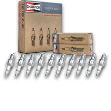 10 pc Champion 415 Copper Spark Plugs RN9YC - Auto Pre Gapped Ignition zx