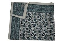 Cotton California King Large Bedspreads Floral  Block Print Bed Sheets