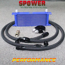 15Row AN10 Universal Engine Transmission Oil Cooler +M20 Filter Adapter hose Kit