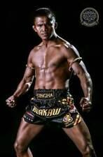 Real Muay Thai Short pant premium boxing Gym Fright Gear MMA Buakaw Banchamek