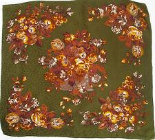 -Superbe Foulard PIERRE  CARDIN 100% soie  TBEG vintage scarf