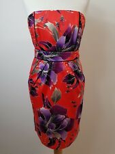 Stunning Women's Red & Purple Strapless Dress by Coast Size 10
