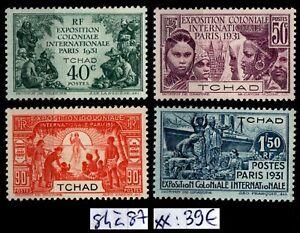 OUBANGUI-CHARI : Série 84 à 87, Neufs ** = Cote 39 € / Lot Timbres COLONIES