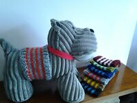 HAND KNITTED DOGS COAT/ BELLY WARMER.***** ALL REDUCED *****