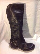 Jones Boot Maker Black Knee High Leather Boots Size 36