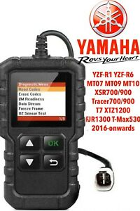 Yamaha  FI, OBD2 fault code scanner diagnostic tool YZF R1 2016-current