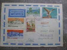134 Северная корея ДНРК DPRK Pyongyang to DDR 1967 cover five stamp